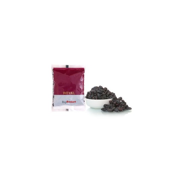 bb Royal Raisins/kishmish Black Seedless/Manooka/kishmish Kale Binbiyanche, 200 gm Pouch