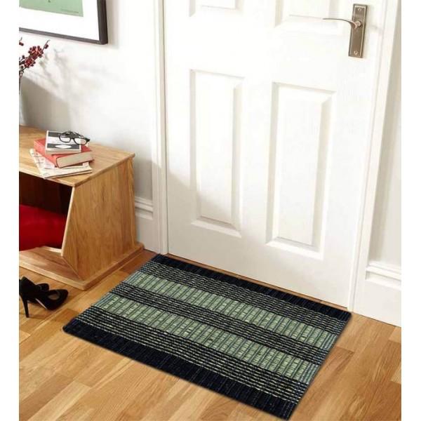 IWS Cotton Door Mat Designer  (Green, Medium)