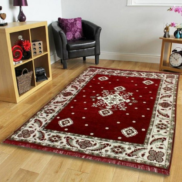 The Real Time Trendz Multicolor Chenille Carpet  (155 cm X 215 cm)