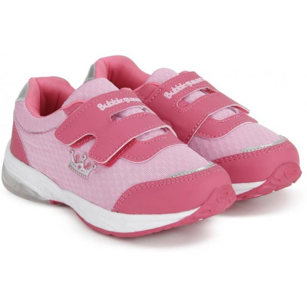 BUBBLEGUMMER Girls Velcro Running Shoes  (Pink)