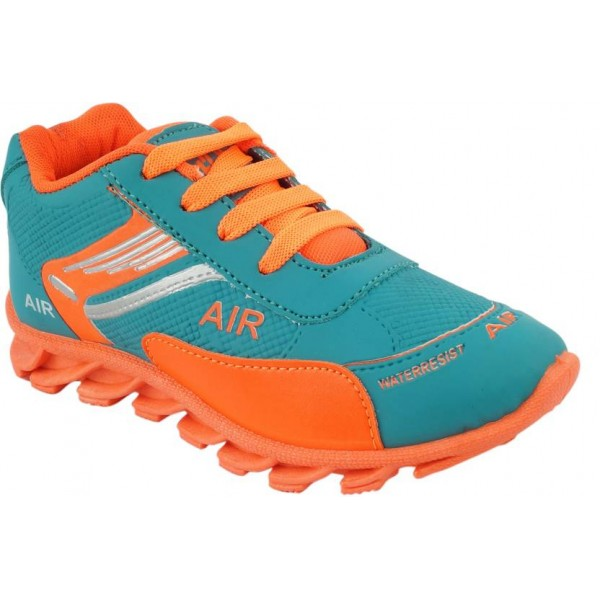 BUNNIES Girls Lace Running Shoes  (Orange)
