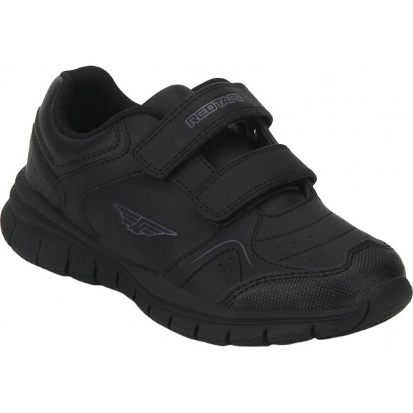 Red Tape Boys & Girls Velcro Walking Shoes  (Black)