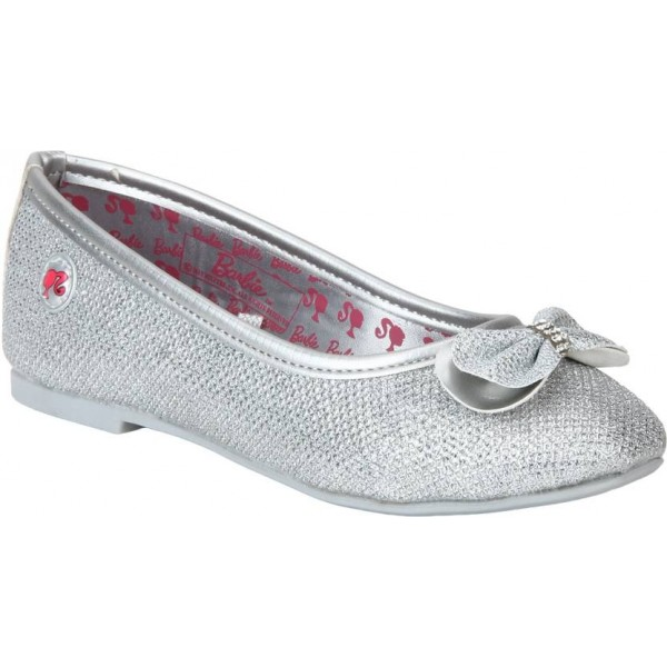 Barbie Girls Slip on Ballerinas  (Silver)