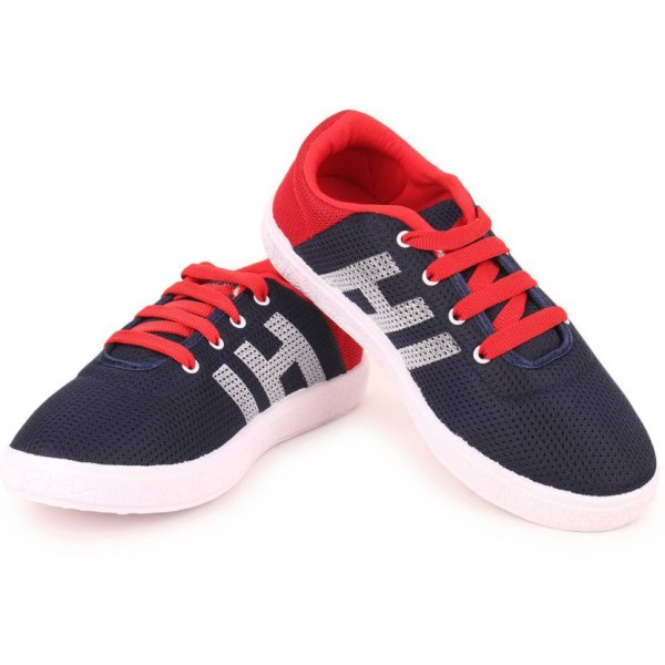 Extavo Boys & Girls Lace Running Shoes  (Blue)