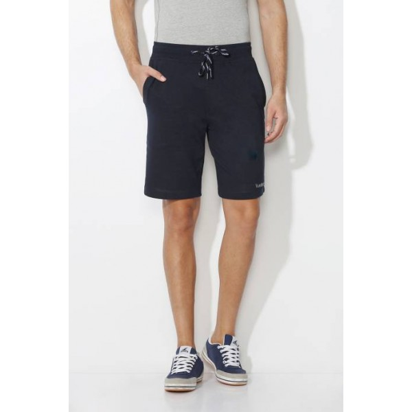 Van Heusen Solid Men's Dark Blue Basic Shorts