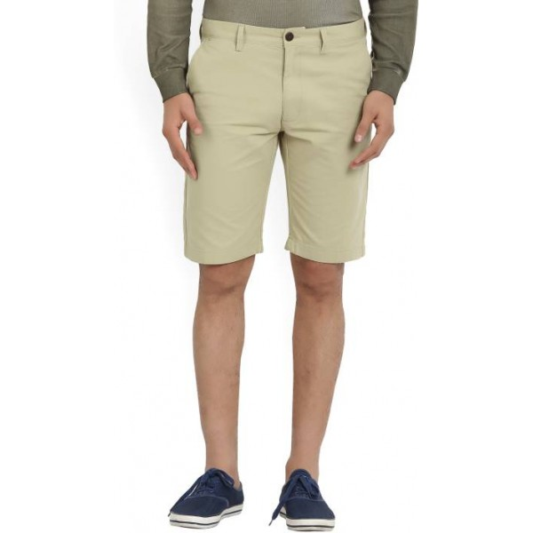 Indian Terrain Solid Men's Beige Chino Shorts