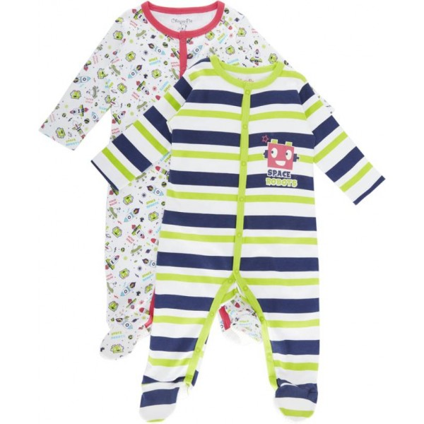 Chirpie Pie by Pantaloons Baby Boys White Sleepsuit