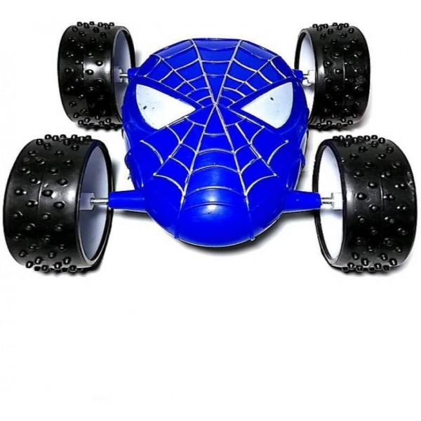 funtastik Spider duble side Pull Back toy  (Blue)