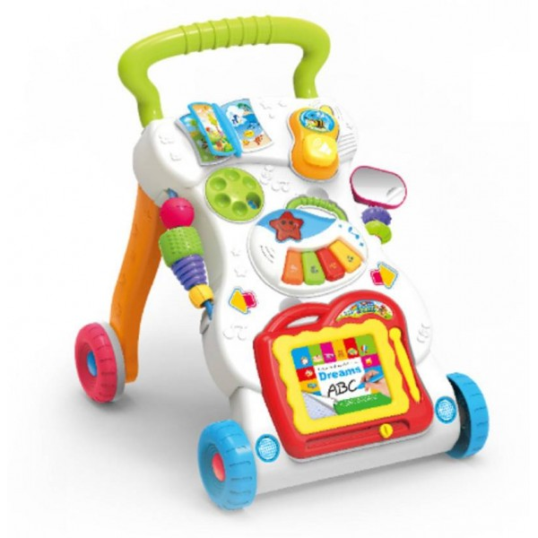 WE-BLINK Musical Walker with Music Piano, Mini Phone and Learning Case  (Multicolor)