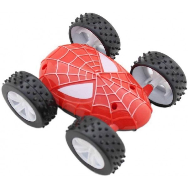 funtastik Spider duble side Pull Back toy  (Red)