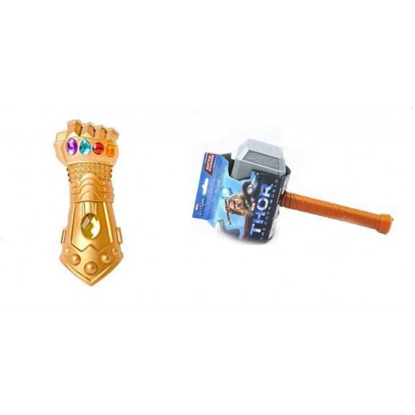 Shrih Thor Hammer with Light and Sound  (Gold, Silver)