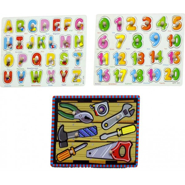 Hnt Kids alphabet number and tools  (56 Pieces)