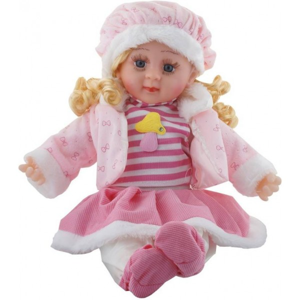 Mantavya Soft Girl Singing Song Baby Doll Toy Pink  (Pink)