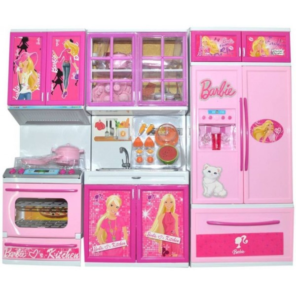 Techhark Best kitchen set Gift For Girls, Light Music Battery Operated Luxury Barbie Beauty Vogue kitchen play set  (Pink)