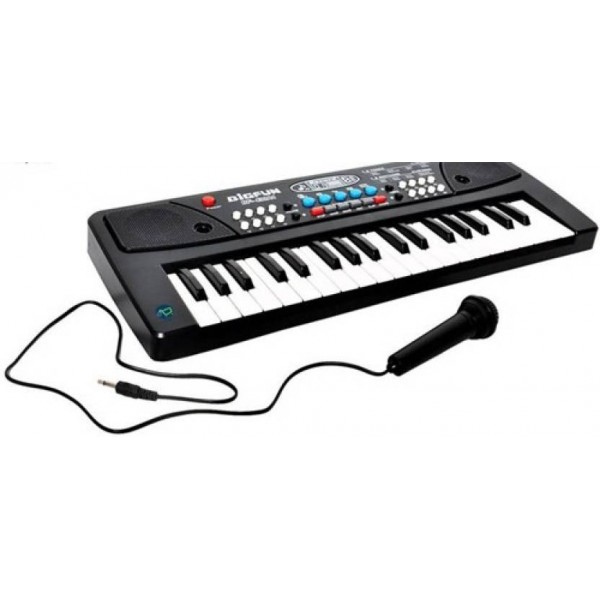 Firstep 37 Key Piano Keyboard Toy with DC Power Option, Recording and Mic  (Black)