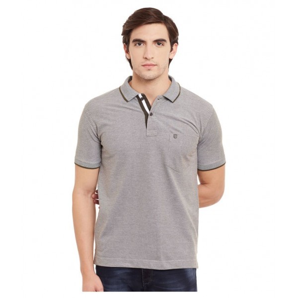 Duke Grey Regular Fit Polo T Shirt