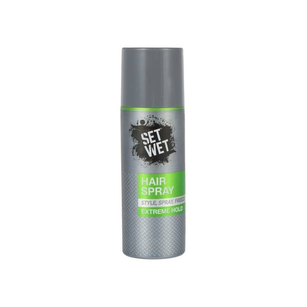 SET WET Extreme Hold Styling Hair Spray for Men,Style, Spray, Freeze your hair,Long Lasting,Quick Drying Hair Spray  (200 ml)