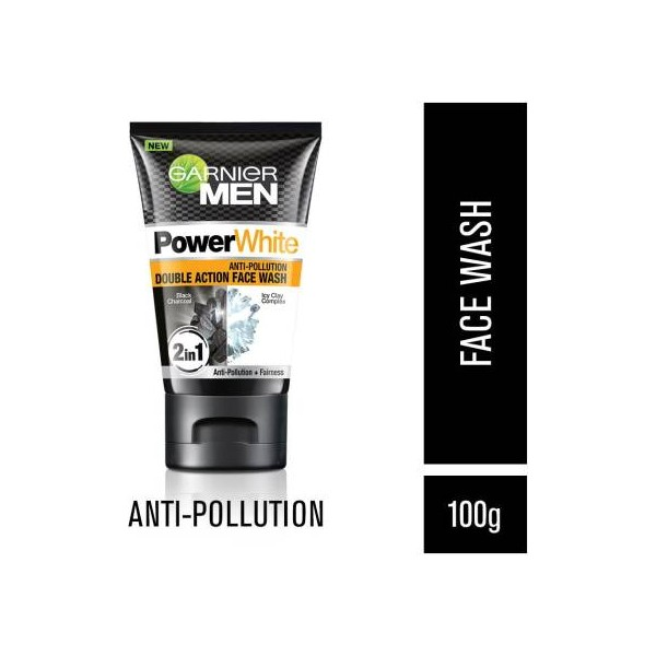 Garnier Men Men Power White Anti-Pollution Double Action Face Wash  (100 g)