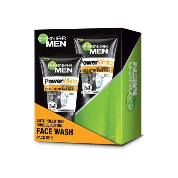 Garnier Men Men Power white Anti-Pollution Double Action Face Wash  (200 g)