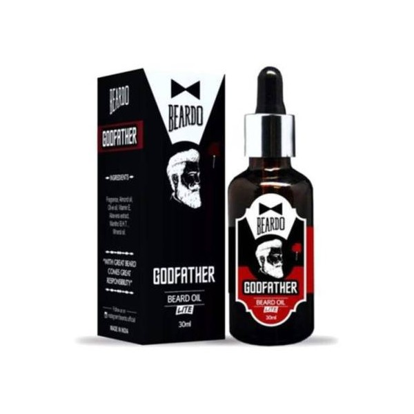 BEARDO Godfather Lite Beard Oil With Natural Ingredients Hair Oil  (30 ml)