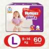 Huggies Wonder Pants Large Size Diapers - L  (60 Pieces)