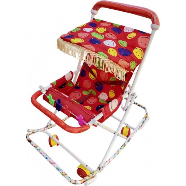 Confiado red walker cum rocker, pram for kids in strollers & prams Stroller Cum Rocker  (No Recline position, Red)