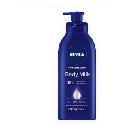 NIVEA Body Lotion for Very Dry Skin, Nourishing Body Milk with 2x Almond Oil, For Men & Women  (600 ml)