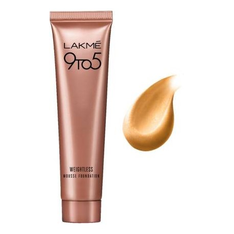 Lakmé 9 to 5 Weightless Mousse Foundation  (Beige Vanilla, 6 g)