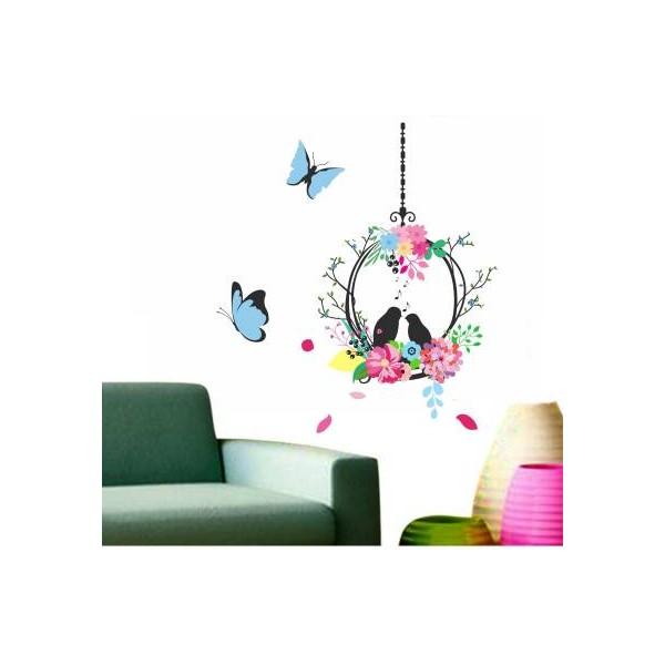 Happy Walls Bird nest cage in flowers  (Multicolor)