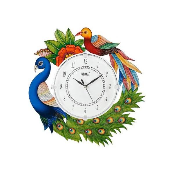 AJANTA Analog 35 cm X 35 cm Wall Clock  (Multicolor, With Glass)