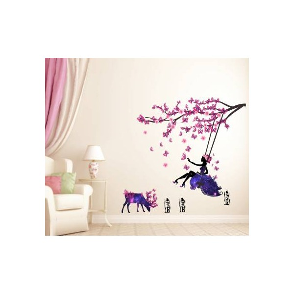 Decal O Decal Large Wall Sticker  (Pack of 1)