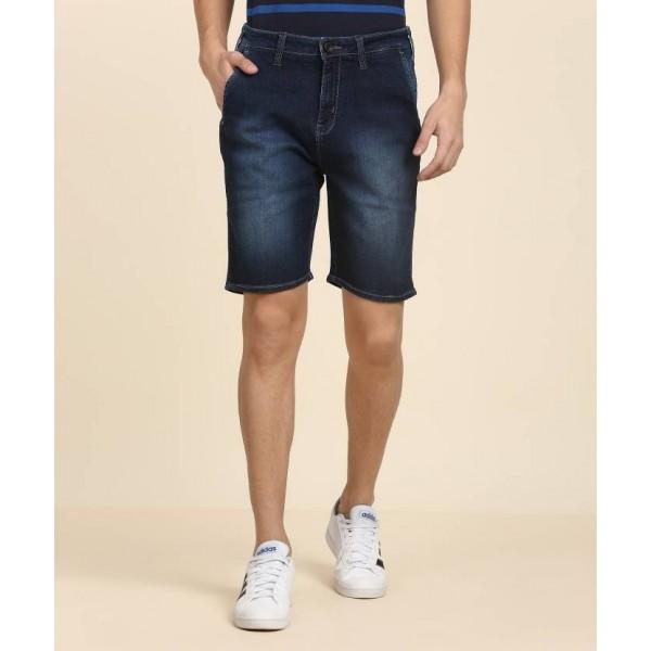 Wrangler Solid Men's Blue Denim Shorts