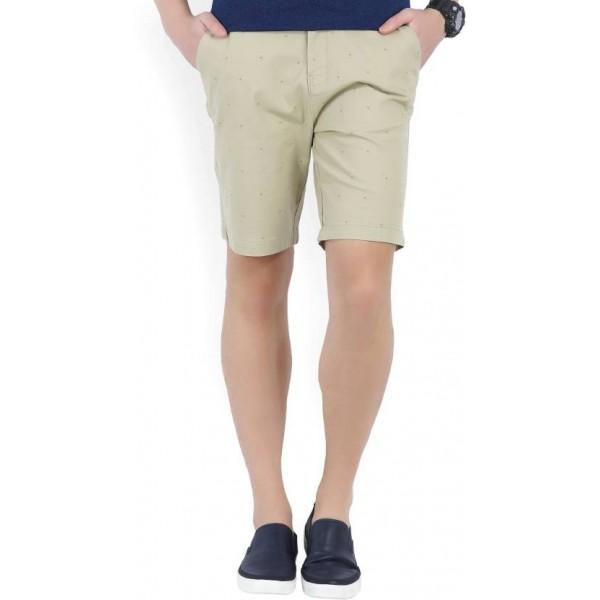 Wrangler Printed Men's Beige Chino Shorts