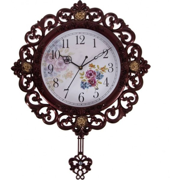 Smile2u Retailers Analog Wall Clock  (Brown, With Glass)