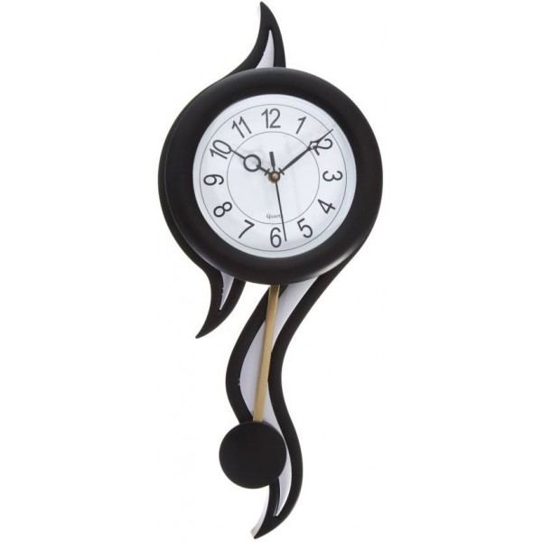 Smile2u Retailers Analog Wall Clock  (Black, With Glass)