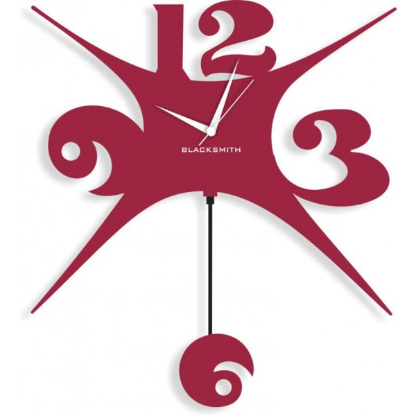 Blacksmith Analog Wall Clock  (Brown, Without Glass)