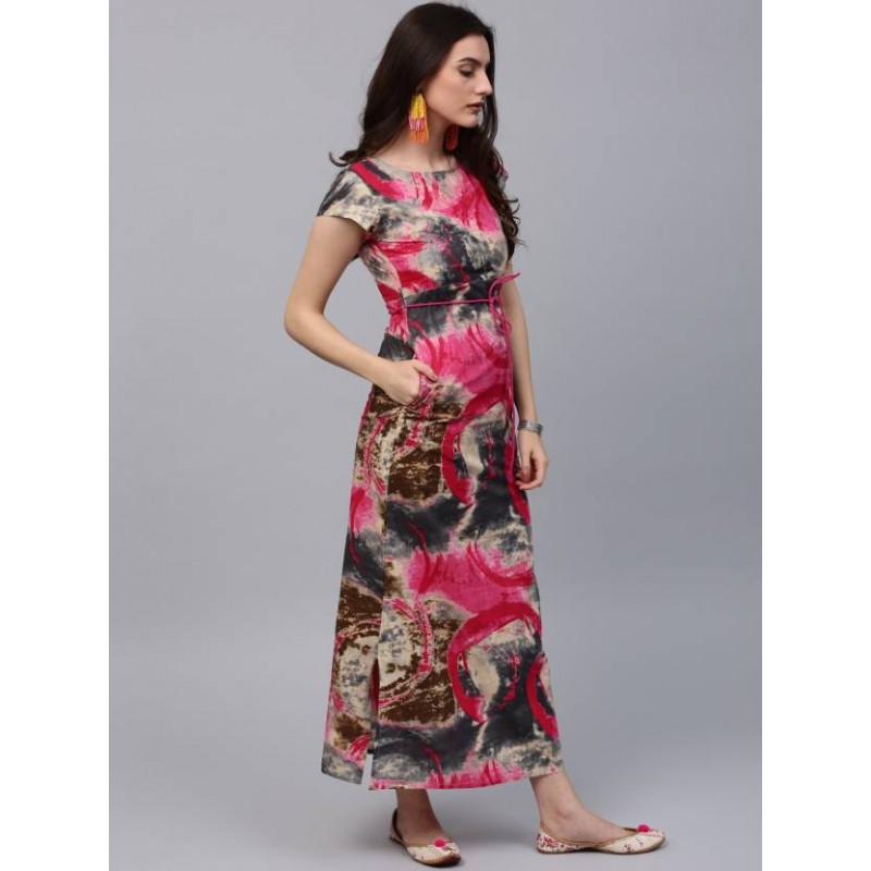 ea902536824b Aks Women s Maxi Multicolor Dress - Suryansu Bazaar