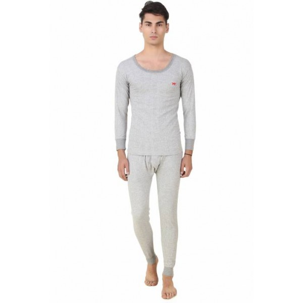 HAP Kings Light Grey Quilted Thermal Set Men's Top - Pyjama Set