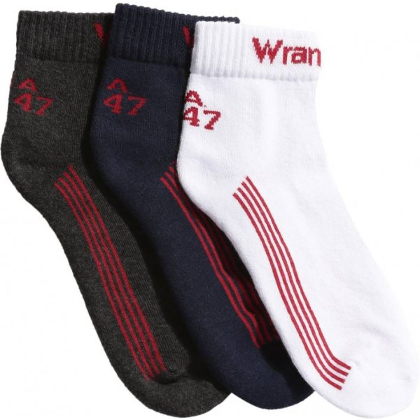 Wrangler Men's Solid Ankle Length Socks  (Pack of 3)