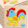 Vaibhav Wooden Kid Cartoon Animal Plane Fruit Design Puzzle Game Educational Toy - 12 Pcs  (Multicolor)