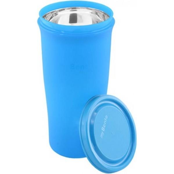 myBento PASSION TUMBLER SS5.8H (SS304 Stainless Steel Inbuilt Bottle 580 Bottle  (Pack of 1, Blue)