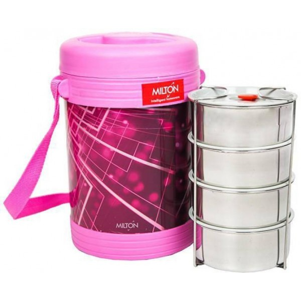 Milton Lunch Box / Tiffine Box Vector Deluxe 4 Containers Lunch Box  (350 ml)