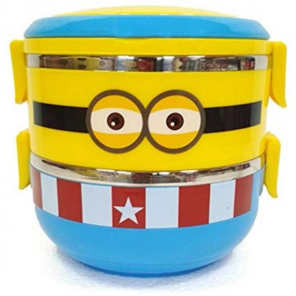 MEHAKENT MINION LUNCH BOX 2 Containers Lunch Box  (1400 ml)