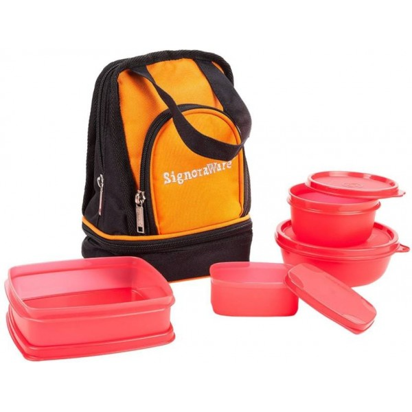 Signoraware Carry Lunch Box 4 Containers Lunch Box  (980 ml)