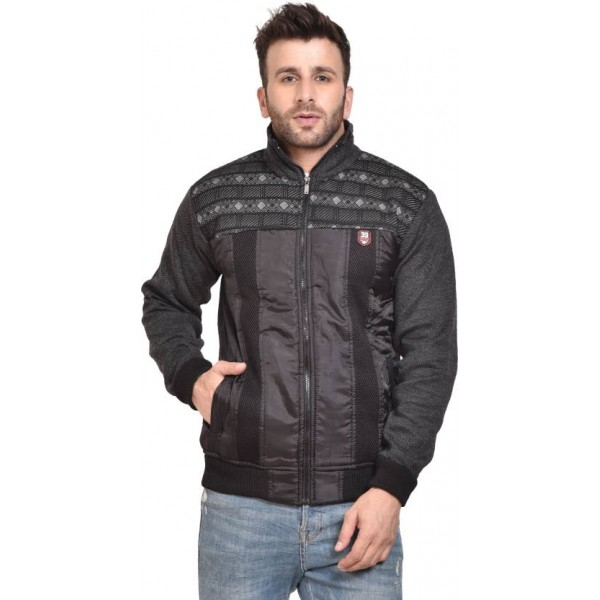 AD & AV Full Sleeve Self Design Men Jacket