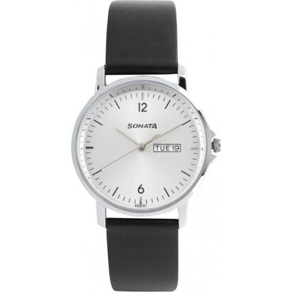 Sonata 77083SL02 Gents Essentials Watch - For Men