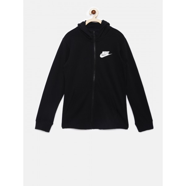 Nike Boys Black Solid Sweatshirt