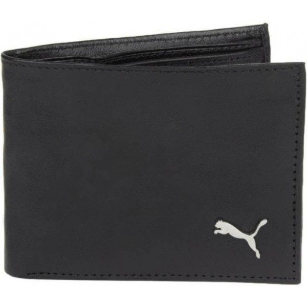 Puma Men Brown, Black Genuine Leather Wallet  (4 Card Slots)