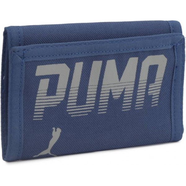 Puma Men Blue Fabric Wallet  (2 Card Slots)