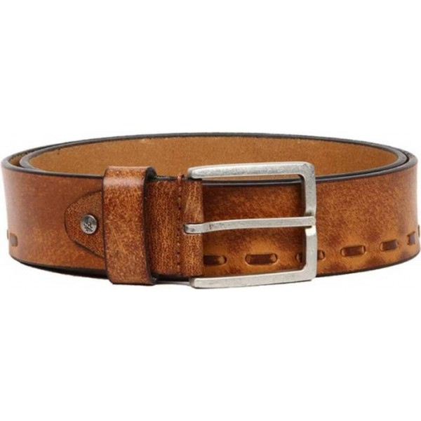 Flying Machine Men Casual Tan Genuine Leather Belt